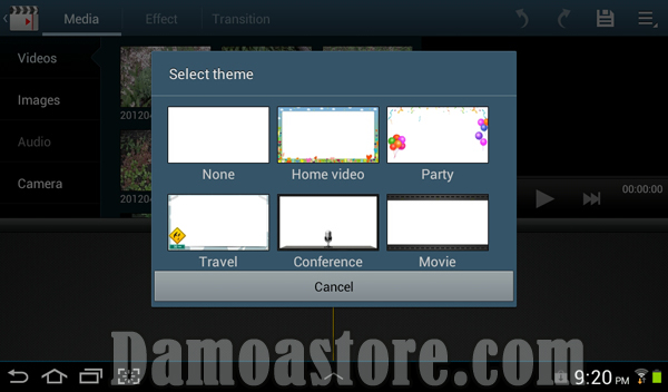 Samsung Galaxy Tab 2 7.0 Video Maker