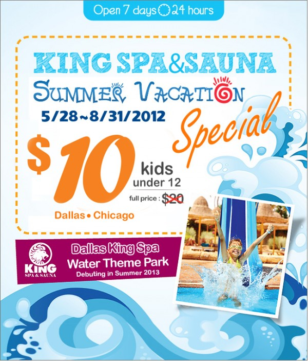 Kingspa Summer Vacation Special